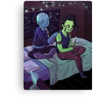 Teen Nebula + Gamora Canvas Print