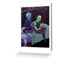 Teen Nebula + Gamora Greeting Card