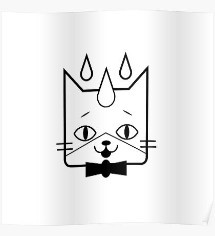 head of a cat vector icon Poster