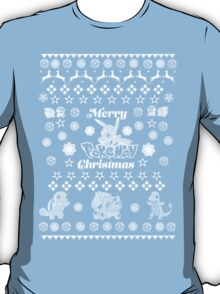 Pokemon Christmas Card Jumper Pattern T-Shirt