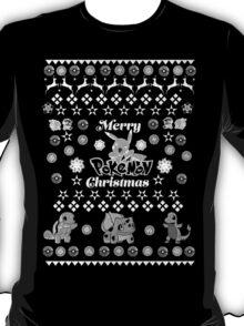 Pokemon Christmas Card Jumper Pattern T-Shirt