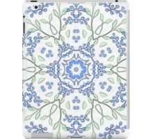 Budded Blue Blossoms Print iPad Case/Skin