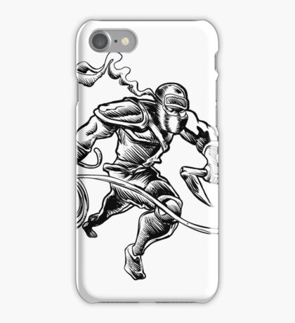 hand drawn Sketchy illustration of a ninja iPhone Case/Skin