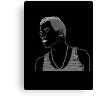 Macklemore Typography Black Canvas Print