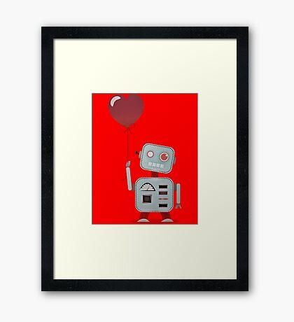 Robot In Love Framed Print