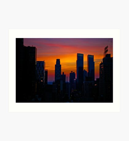 Looking West from 6th Street Manhattan, NYC, part trois. Art Print