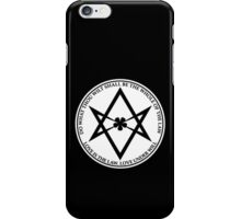 Aleister Crowley - DO WHAT THOU WILT SHALL BE THE WHOLE OF THE LAW - Occult - Thelema (White On Black) iPhone Case/Skin
