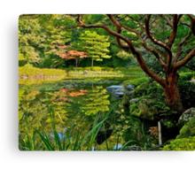Heian Shrine pond garden, Kyoto, Japan Canvas Print