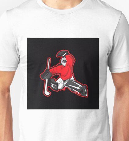 illustration of ice hockey goalie Unisex T-Shirt