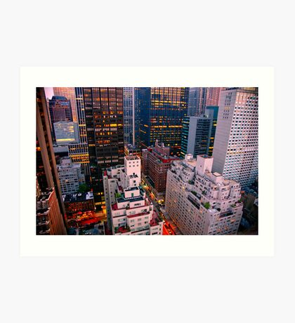 Looking South from 6th Street Manhattan, NYC Art Print