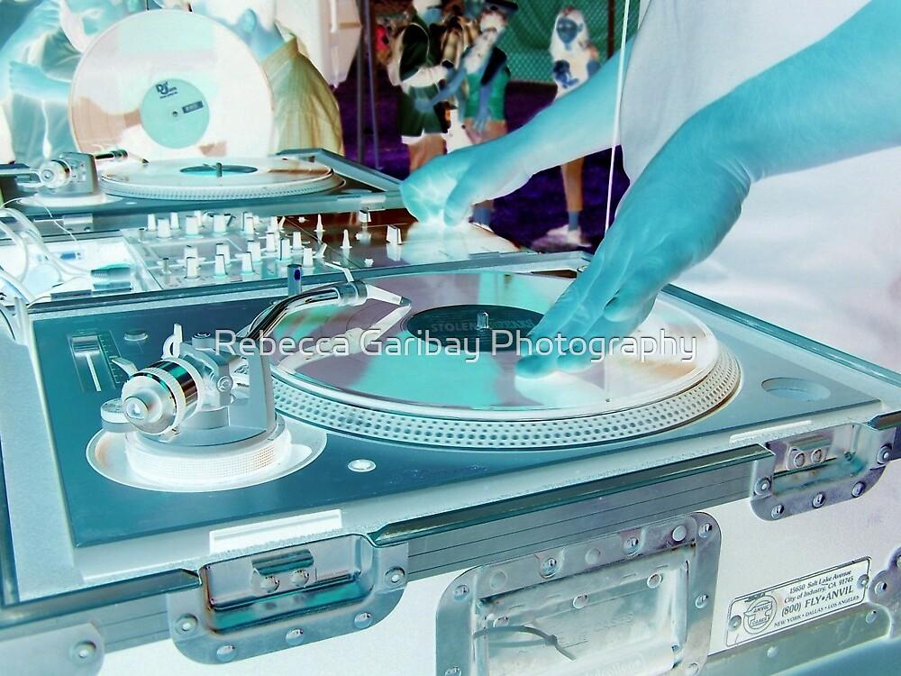 Blue DJ by Rebecca Garibay Photography