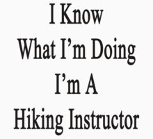 I Know What I'm Doing I'm A Hiking Instructor  by supernova23