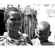 Samburu Mother and Child Photographic Print