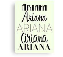 Ariana Grande - Era Logos Canvas Print