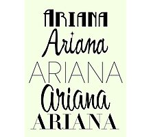 Ariana Grande - Era Logos Photographic Print