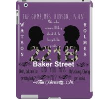 Sherlock Quotes Collage iPad Case/Skin