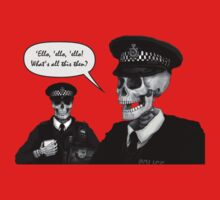 Skeleton Police (Red) by Malcolm Kirk