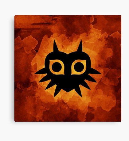 Majora's Mask Silhouette Canvas Print