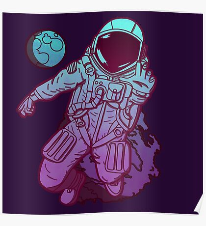 Lost in Space - neon Poster