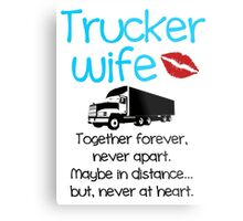 Trucker Wife - Blue Metal Print
