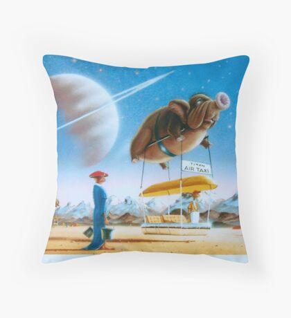 Titan Taxi Throw Pillow