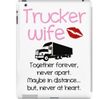 Trucker Wife - Pink iPad Case/Skin