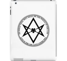 Aleister Crowley - DO WHAT THOU WILT SHALL BE THE WHOLE OF THE LAW - Occult - Thelema - ALT Version iPad Case/Skin