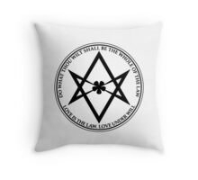 Aleister Crowley - DO WHAT THOU WILT SHALL BE THE WHOLE OF THE LAW - Occult - Thelema - ALT Version Throw Pillow