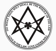 Aleister Crowley - DO WHAT THOU WILT SHALL BE THE WHOLE OF THE LAW - Occult - Thelema - ALT Version by createdezign