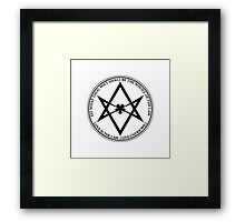 Aleister Crowley - DO WHAT THOU WILT SHALL BE THE WHOLE OF THE LAW - Occult - Thelema - ALT Version Framed Print