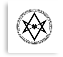 Aleister Crowley - DO WHAT THOU WILT SHALL BE THE WHOLE OF THE LAW - Occult - Thelema - ALT Version Canvas Print