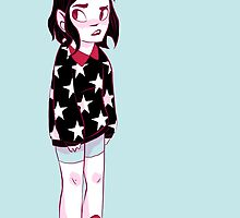 Skeptical fashion kid by Maddie Chaffer