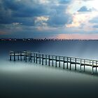 Spotlight on a Pier by Franklin Lindsey