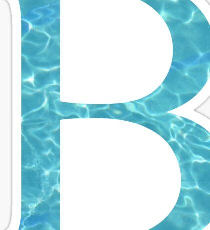 Beta B Tropical Water Blue Greek Sorority Sticker