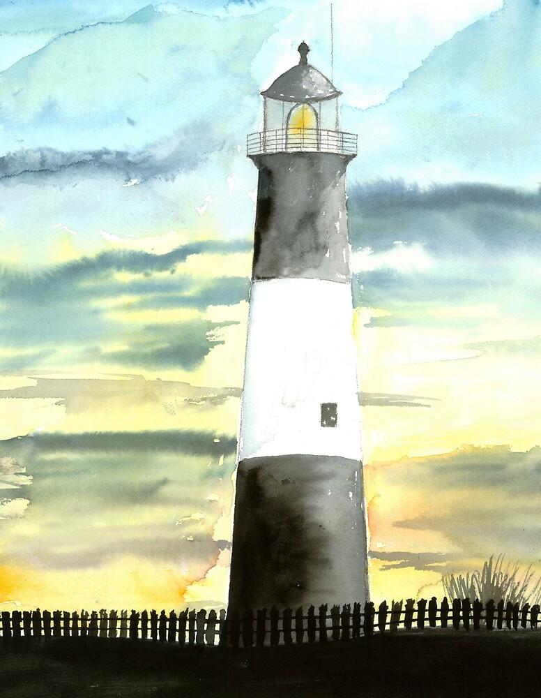 Tybee Island Lighthouse 2 Poster Print by derekmccrea