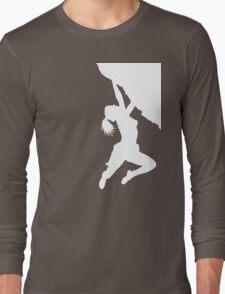 girl bouldering Long Sleeve T-Shirt