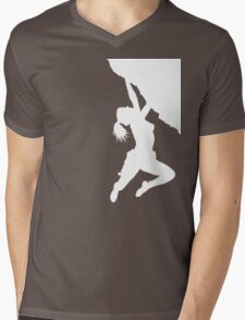 girl bouldering Mens V-Neck T-Shirt