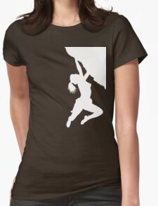 girl bouldering Womens Fitted T-Shirt