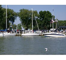 Sailboats in Port Clinton Photographic Print