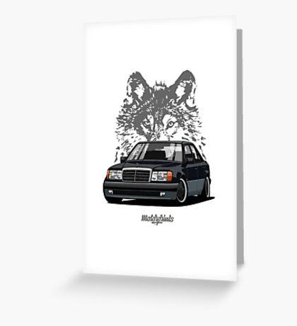 Mercedes-Benz 500 E (W124) (black) Greeting Card