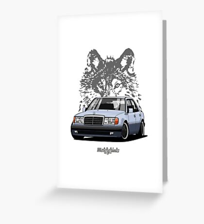 Mercedes-Benz 500 E (W124) (light blue) Greeting Card