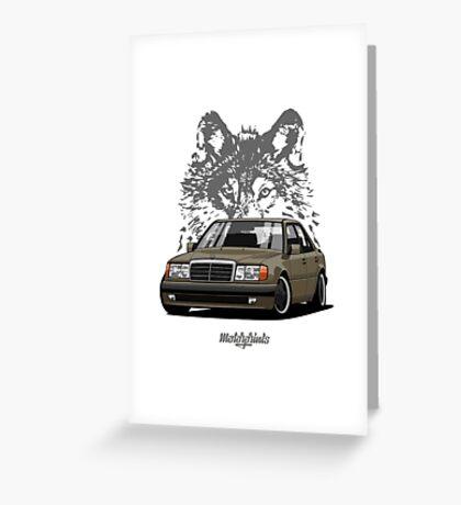 Mercedes-Benz 500 E (W124) (brown) Greeting Card