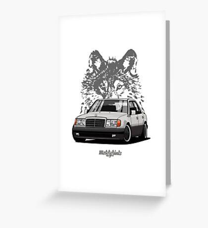 Mercedes-Benz 500 E (W124) (silver) Greeting Card