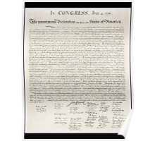 Declaration of Independence, United States of America, American Independence,USA Poster