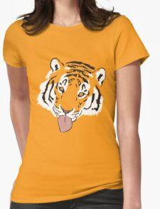 Snowflake Tiger Womens Fitted T-Shirt