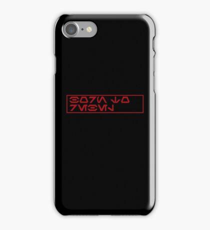 Born To Rebel (in aurebesh) iPhone Case/Skin