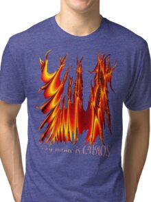 my name is CHAOS Tri-blend T-Shirt
