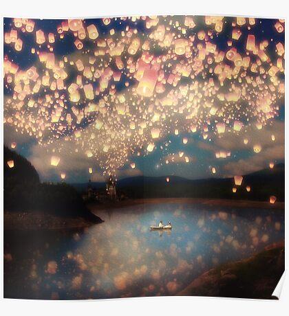 Wish Lanterns for Love Poster