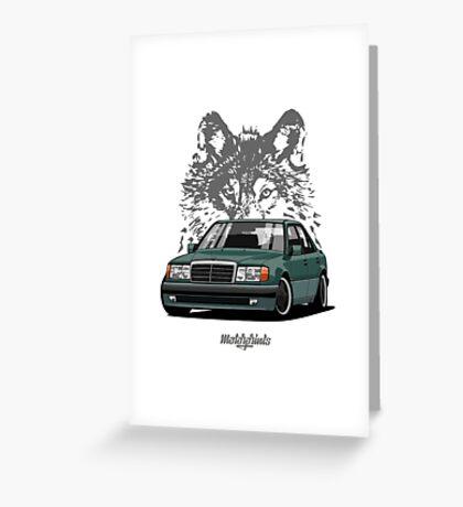 Mercedes-Benz 500 E (W124) (green) Greeting Card