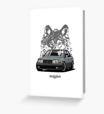 Mercedes-Benz 500 E (W124) (gray) Greeting Card